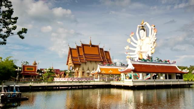 eighteen hands statue temple - stupa stok videoları ve detay görüntü çekimi