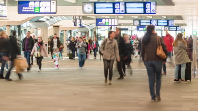 stockvideo's en b-roll-footage met 4k: time-lapse van eindhoven trein station - eindhoven