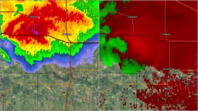 2013 El Rino, OK Doppler Radar Split View