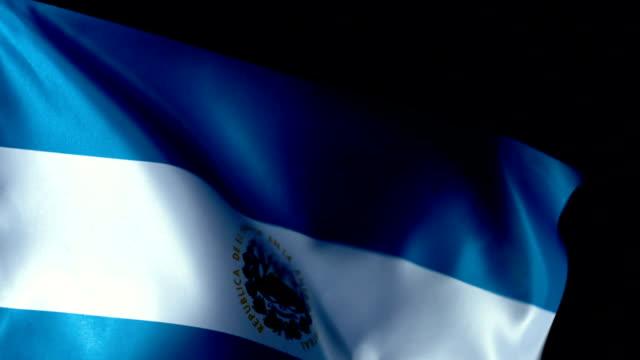 El Salvador Flag Flapping