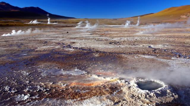 El Tatio Geysers in the Atacama Desert, northern Chile video