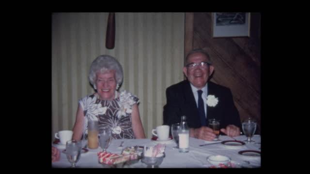 1971 Elderly couple at head table