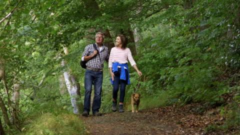 vídeos de stock e filmes b-roll de idosos casal para fora para um passeio - andar