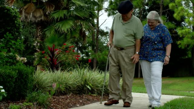 Elderly Man with Nurse video