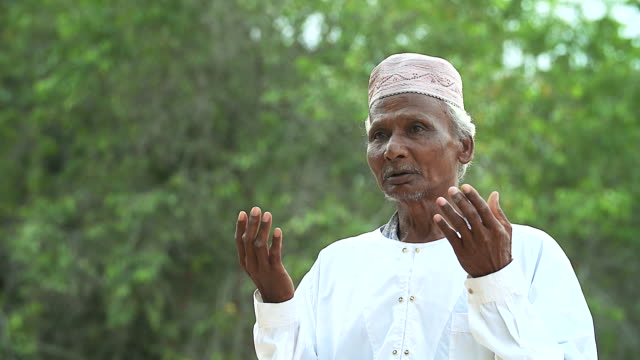 Elderly Muslim Arabic Man Praying Outdoor Stock Video & More
