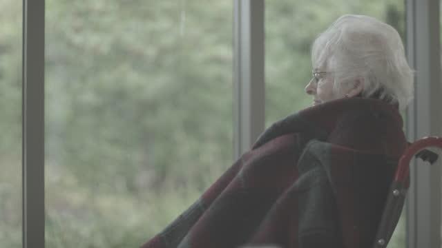 Elderly Person Alone Thinking video