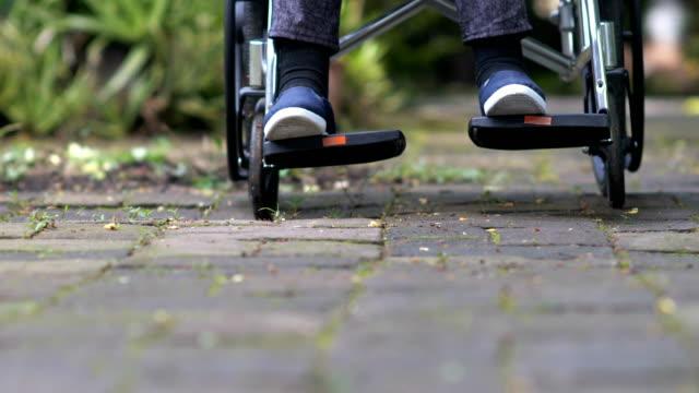 Elderly woman in her wheelchair video