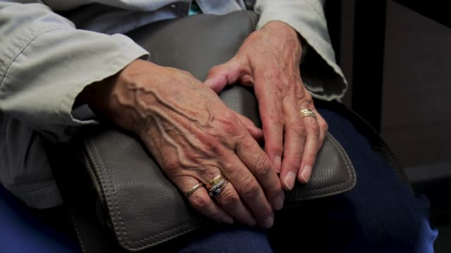 elderly womans hands - senior care stock videos and b-roll footage