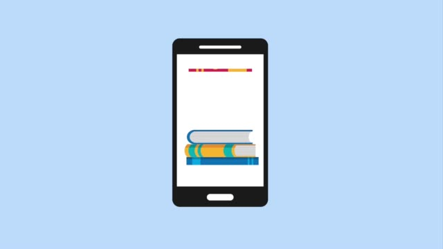 e-learning education related smartphone graduation hat and pile books online app diploma stock videos & royalty-free footage