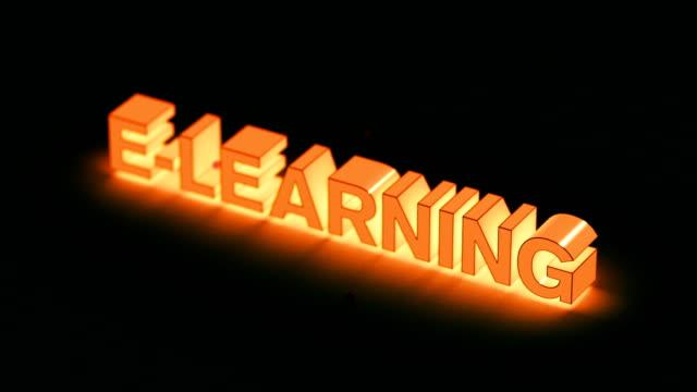 vídeos y material grabado en eventos de stock de e aprendiendo animación de introducción - clase de escritura