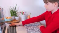 istock E-learning physical optical phenomena. Boy with laptop and magnifier. 1253299632