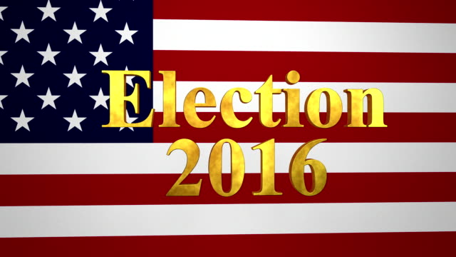Election 2016 Gold Text With USA Flag video