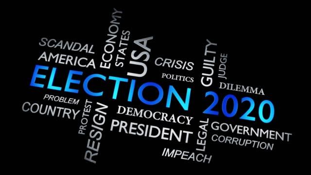 選舉2020年在美國選舉總統 - 視頻動畫 - biden 個影片檔及 b 捲影像