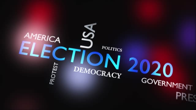 election 2020 in the usa to elect a president - video animation - biden стоковые видео и кадры b-roll