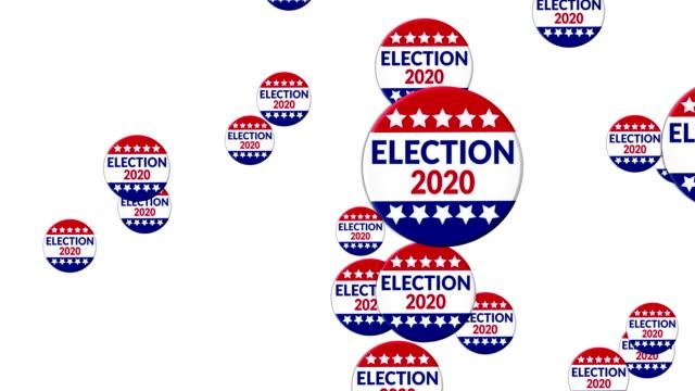 vídeos de stock, filmes e b-roll de eleição 2020 - distintivo