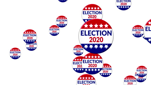 election 2020 - badge video stock e b–roll