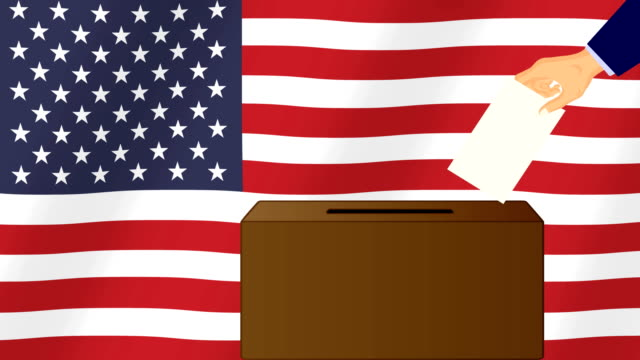election day in the united states of america. - newsletter video stock e b–roll