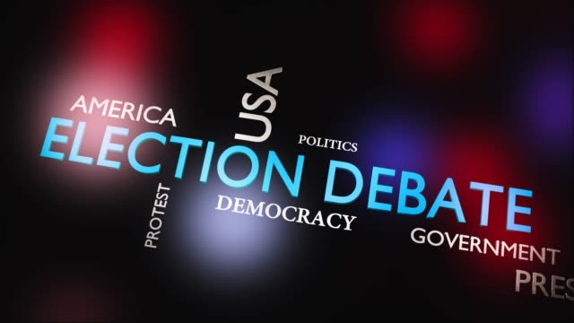 election debate or discussion about politics - video animation - biden стоковые видео и кадры b-roll
