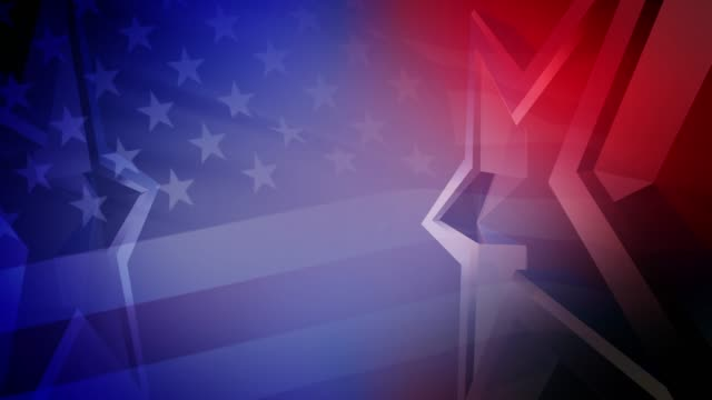米国の選挙ビデオの背景シームレスループ - アメリカ文化点の映像素材/bロール