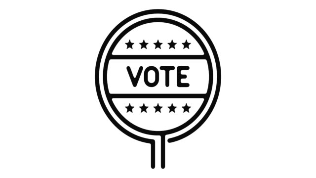 elections line motion graphic - badge video stock e b–roll
