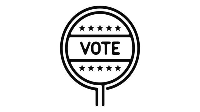 vídeos y material grabado en eventos de stock de elecciones línea motion graphic - election