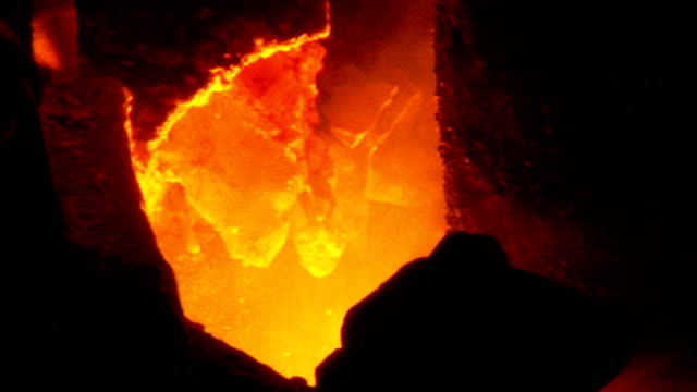 Electric Arc Furnace at a Factory 4 Clips Pack. video