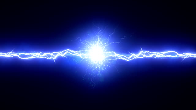 Electric Arc On Black Background video