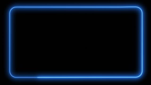 elektrische blaue technologie web-banner-vorlage auf schwarzem hintergrund - looped - rechteck stock-videos und b-roll-filmmaterial