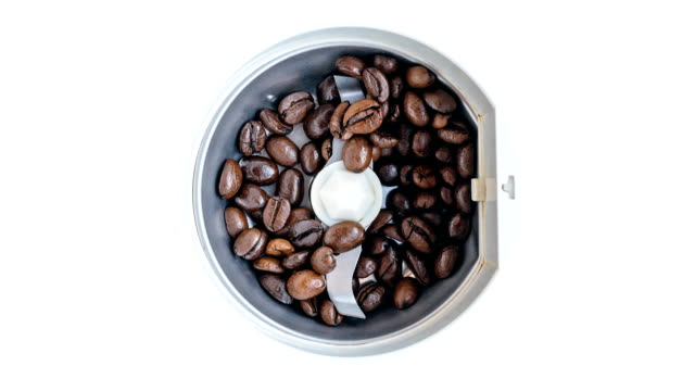 Electric coffee mill. video