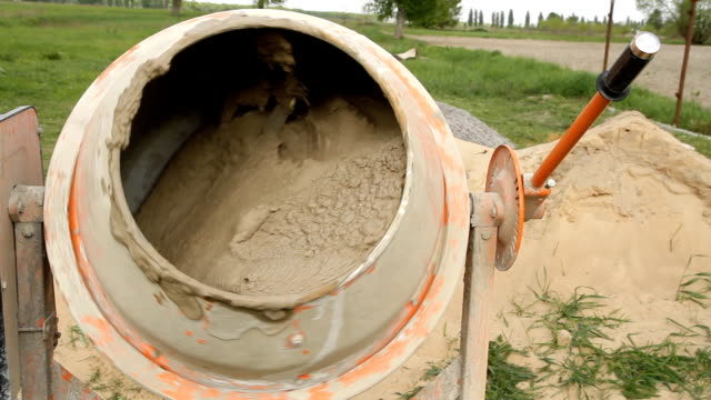 Electric concrete mixer video