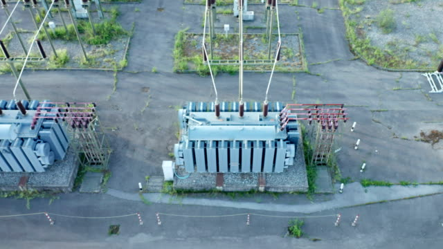 Electric Distribution Station Aerial View - video