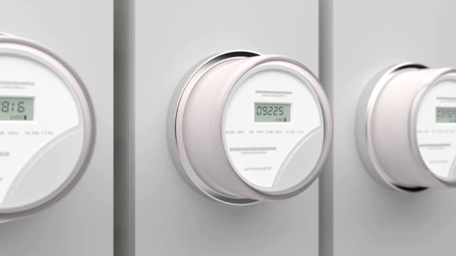 Electric Meters Electric Meters on residential and commercial buildings intelligence stock videos & royalty-free footage