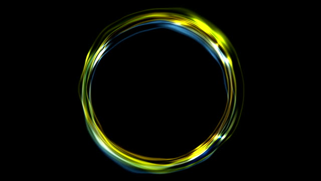 Electric neon iridescent flowing ring video animation video