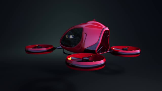 Electric Passenger Drone Electric Passenger Drone. This is a 3D model and doesn't exist in real life quadcopter stock videos & royalty-free footage
