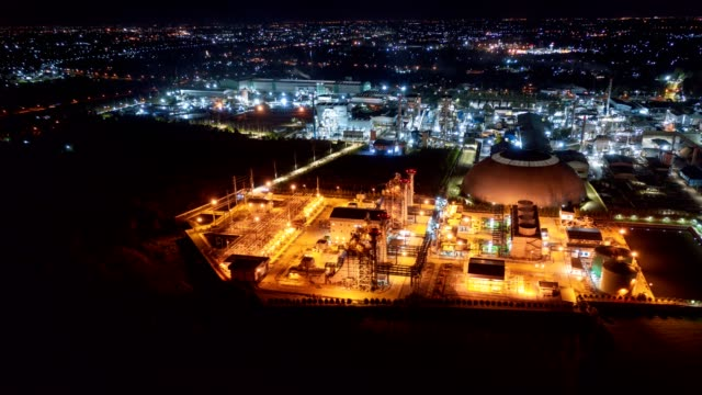 Electric power plant substation illumination, Export-oriented manufacturing paper packaging and corrugated industry at night