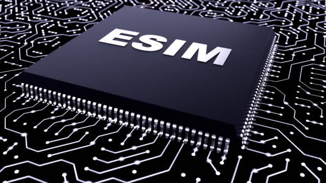 Electrical data moves across the circuit board to the mobile processor video