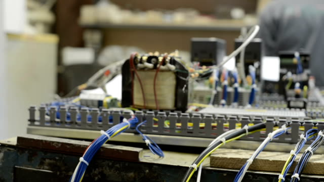 Electrical equipment, control system of a modern CNC machine video