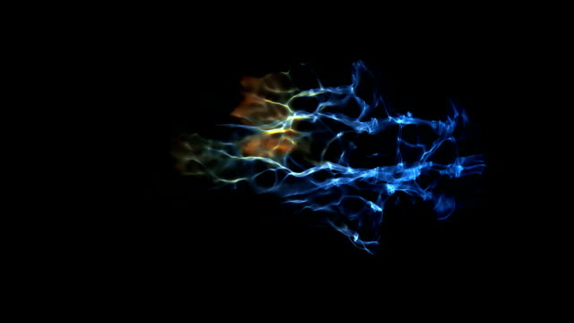 Electrical freezing burst with alpha channel Electrical freezing burst with alpha channel caustic light effect stock videos & royalty-free footage