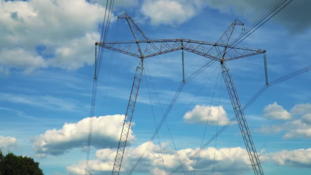 Electrical support on the sky background