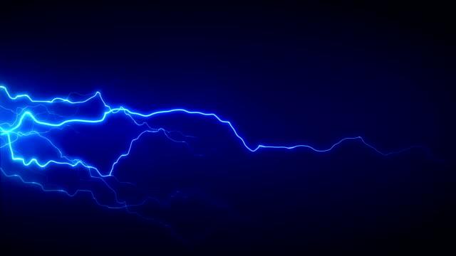 электричество синий сбоку - lightning стоковые видео и кадры b-roll