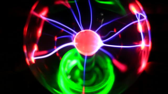 Electricity concept, closeup plasma ball video
