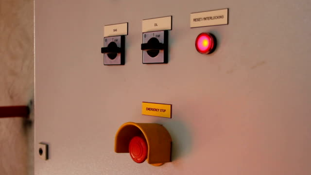 Electricity Control Panel In The Factory