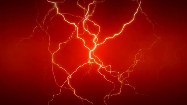 электричество полный оранжевый - lightning стоковые видео и кадры b-roll