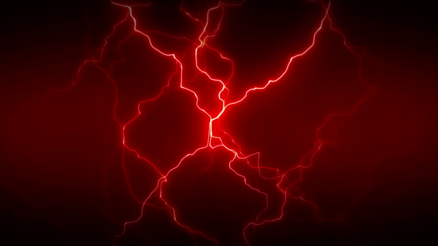 Electricity Full Red Electricity or plasma crackling. This is 1 clip in a set of 3. All clips are available in multiple color options and loop seamlessly. high voltage sign stock videos & royalty-free footage