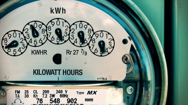 Electricity Meter (Time-lapse 4K) Electrical video