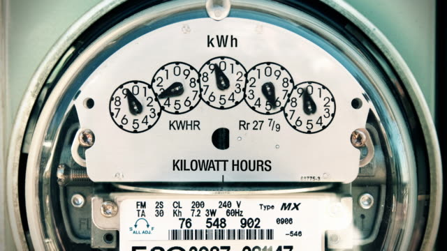 Electricity Meter (Time-lapse) Loop  power stock videos & royalty-free footage