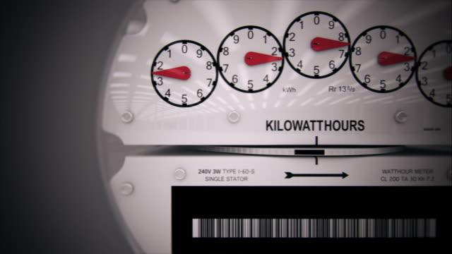 vidéos et rushes de compteur électrique time-lapse de contenu généré par ordinateur - électricité