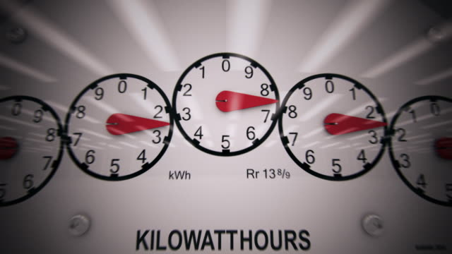 Electricity Meter Time-lapse CG video