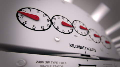 Electricity Meter Time-lapse CG  high up stock videos & royalty-free footage