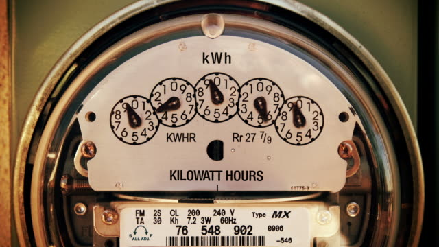 Electricity Meter (Time-lapse Zoom) video